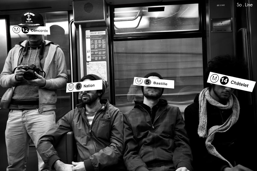 travail sur le transit dans le métro parisien