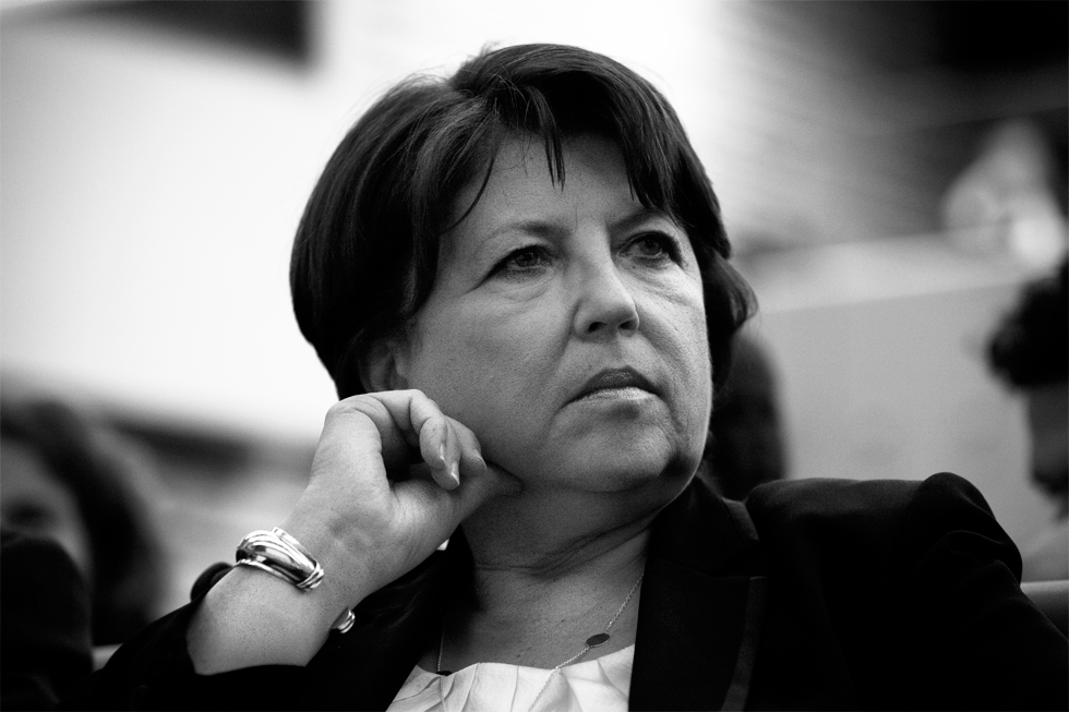 Martine Aubry à Paris : .