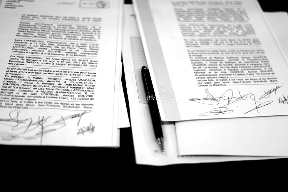 Contrat de Mariage : .