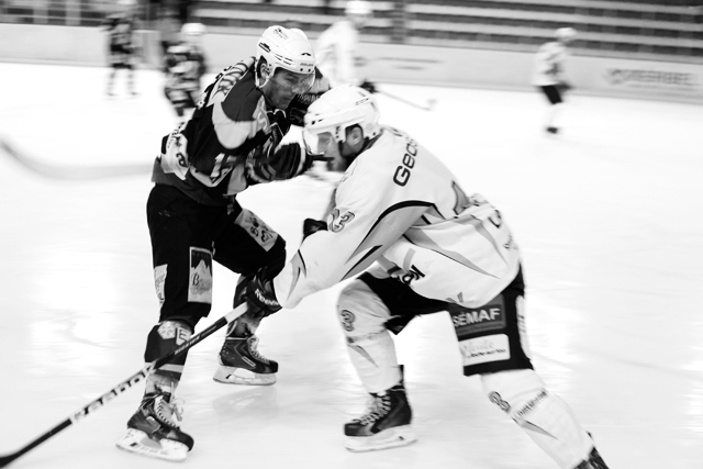 Match de Hockey à Méribel. Savoie : .