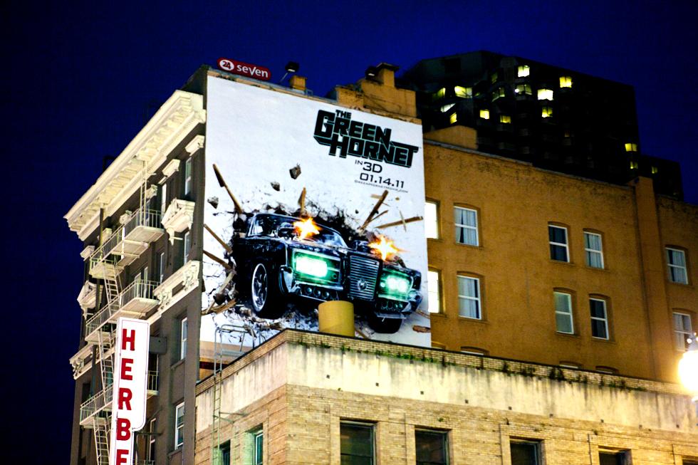 Affiche publicitaire à San Francisco : .