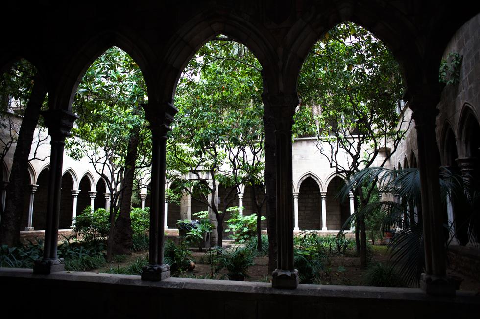 cour intérieur d'un monastere barcelone