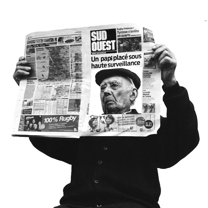 grand père à la une journal