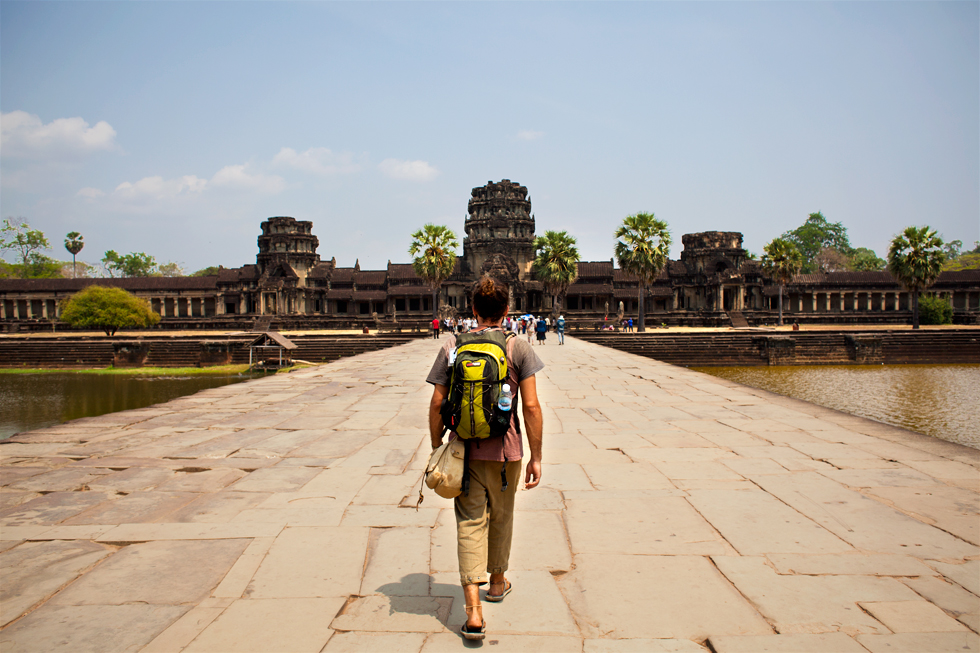 Tinou à Angkor Wat, Siemp Reap, Cambodge : .