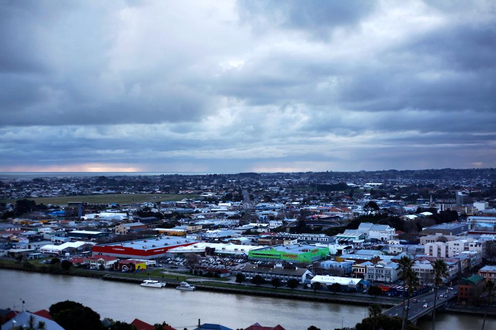Vue sur la ville de Whanganui, New Zealand : .
