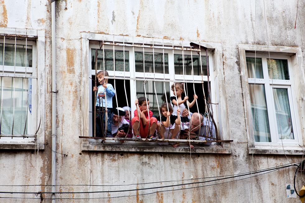 enfants aux fenêtres istanbul