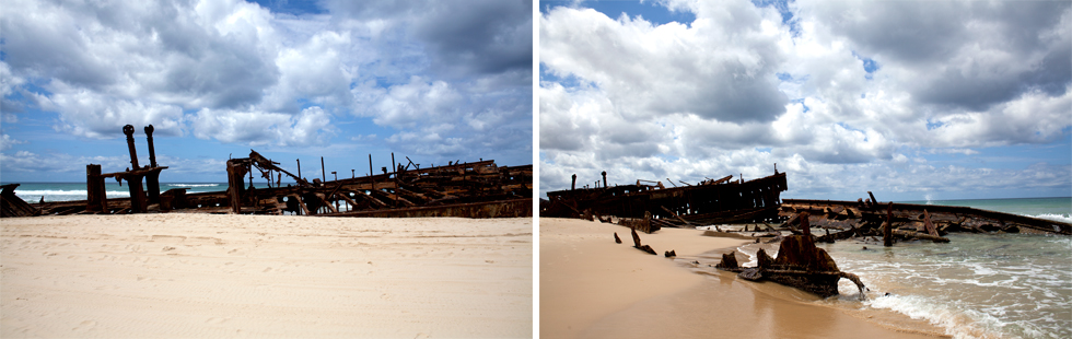 Épave de Bateau sur Fraser Island, Queenland, Australie : .