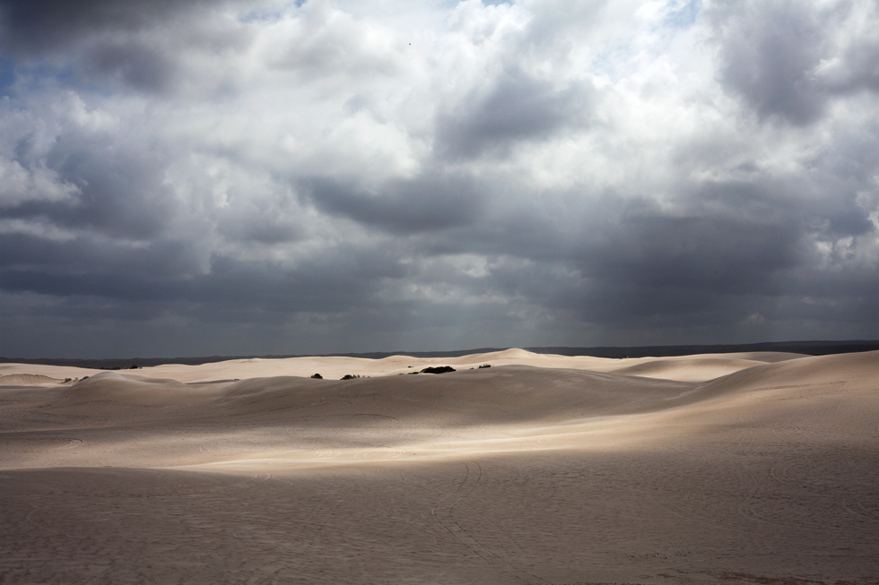 Dunes de sable à Geralton, Western Australia : .