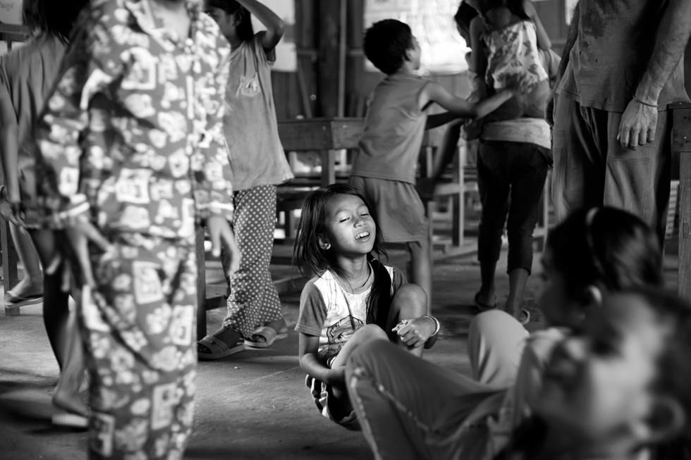 reportage N&B école khmer cambodge koh trong kratie