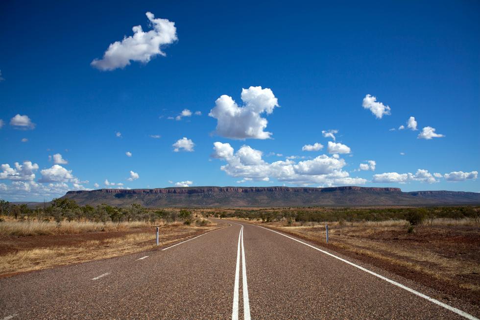 Route dans le région du Kimberley, Western Australia : .