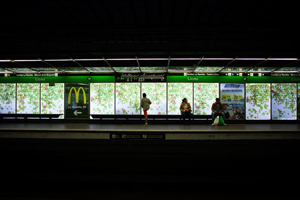 arret de metro licieu barcelone