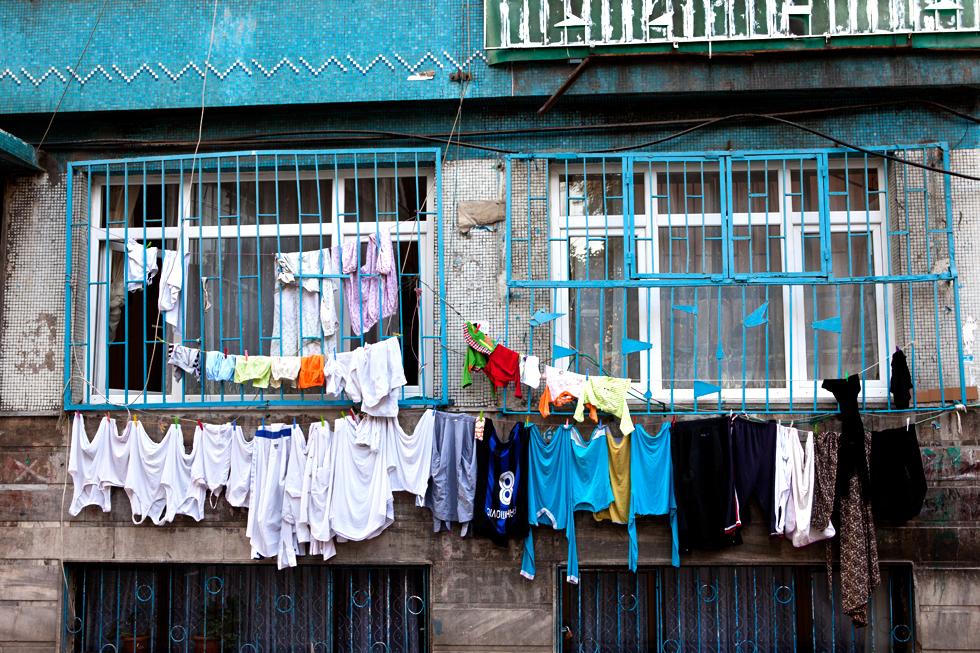 linges aux fenêtres istanbul