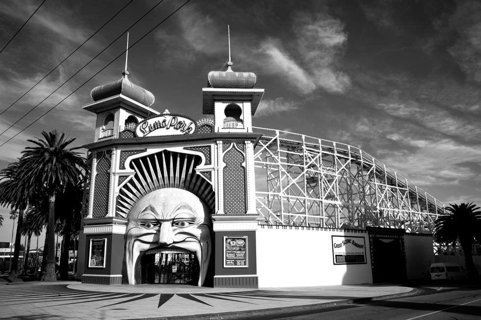 Parc d'attraction Luna Park à St Kilda, Melbourne : .