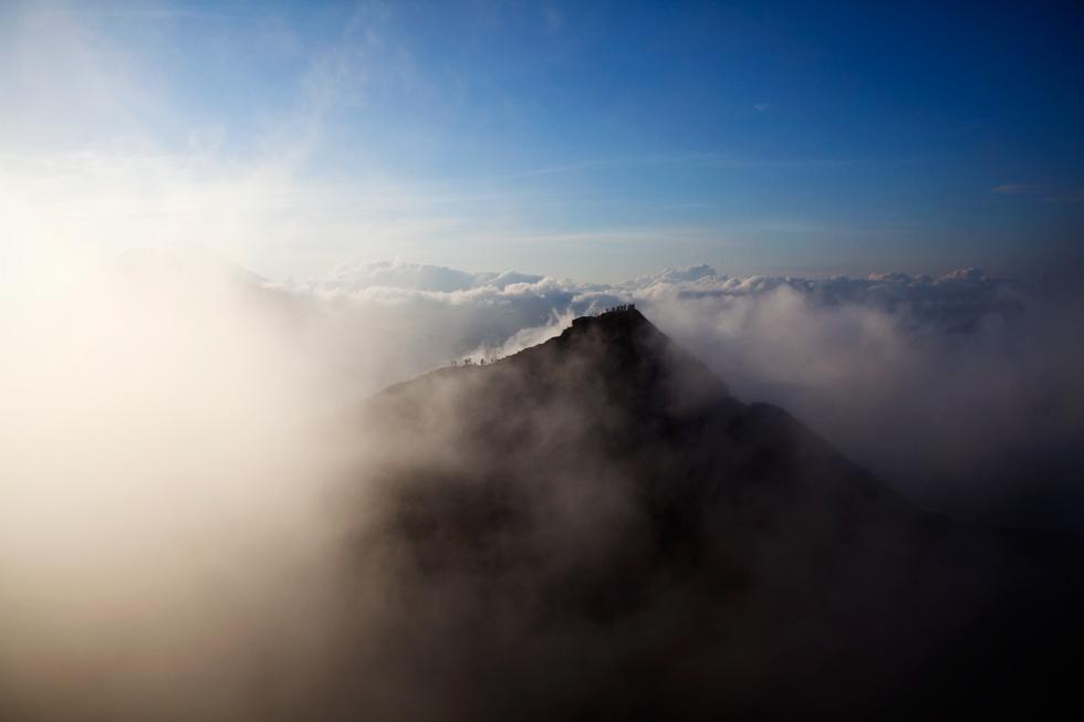 Vue du sommet du Mont Batur, Bali Indonésie : .
