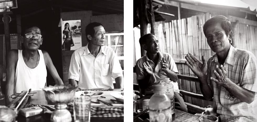 Repas de fête à Pak Ou Laos : .