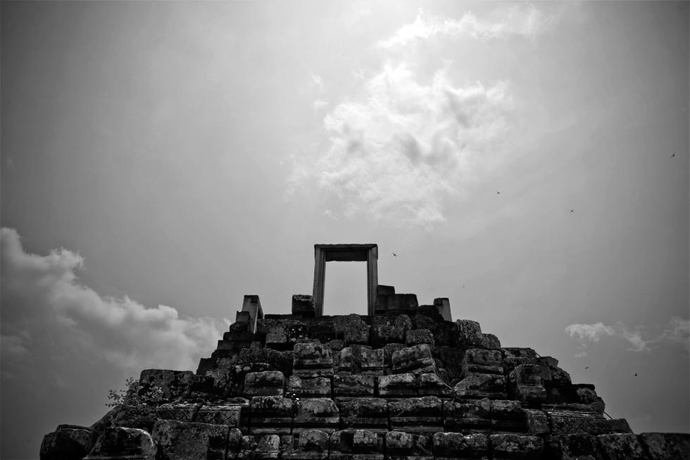 Porte à Angkor, Siem Reap au Cambodge : .