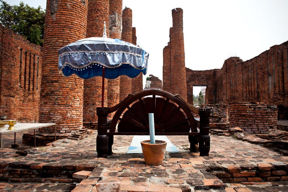 Ruines d'un temple à Ayutthaya, Thailande : .