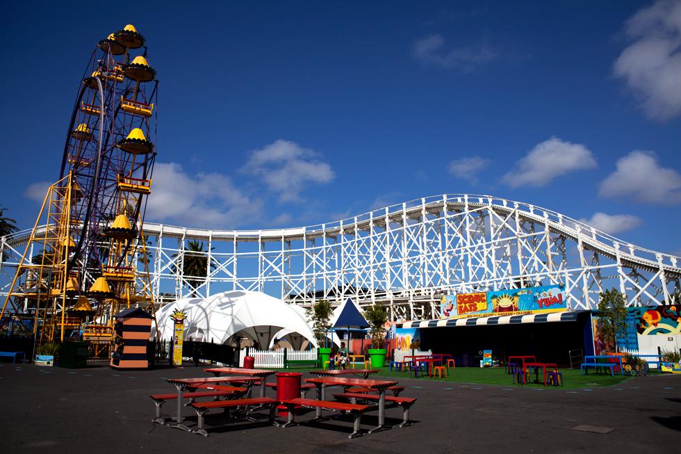 Park d'attractions Luna Park à St Kilda, Melbourne : .