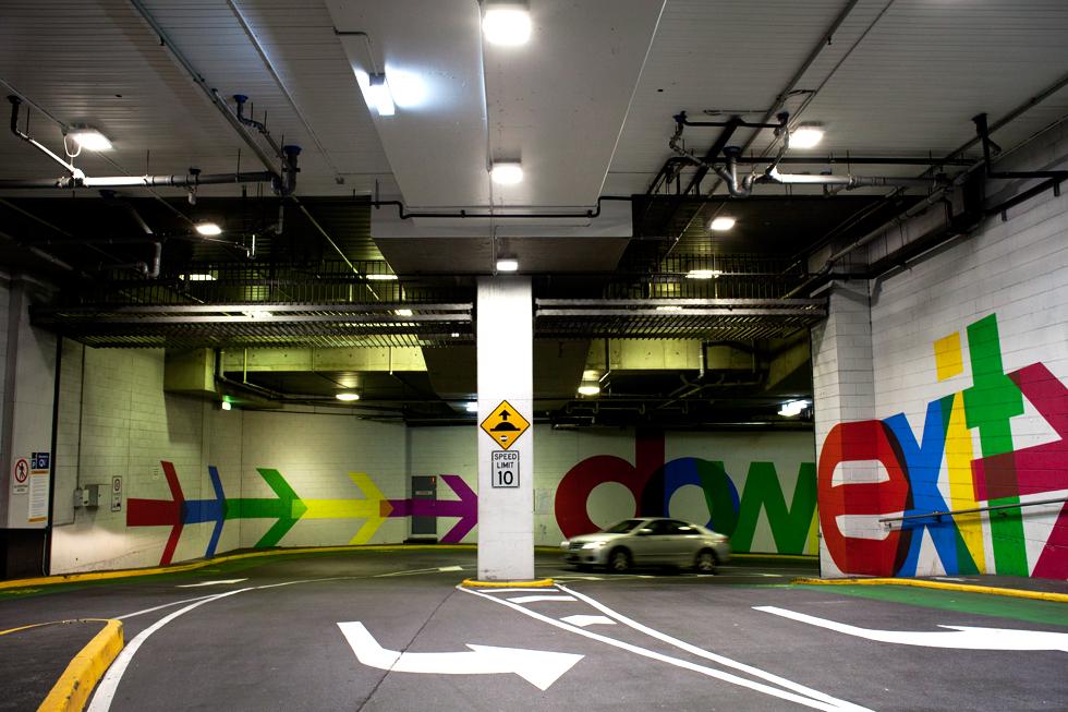Parking souterrain dans le CBD à Melbourne : .