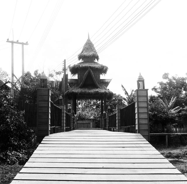 Entrée d'une guesthouse à Vang Vieng Laos : .