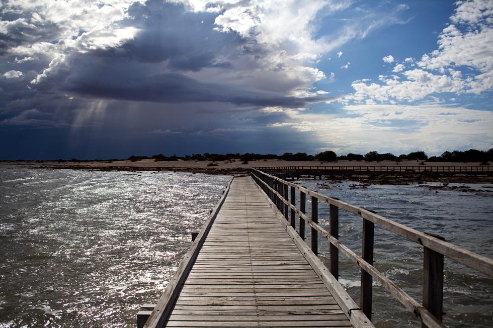 Ponton dans la région du Gascoyne, Western Australia : .