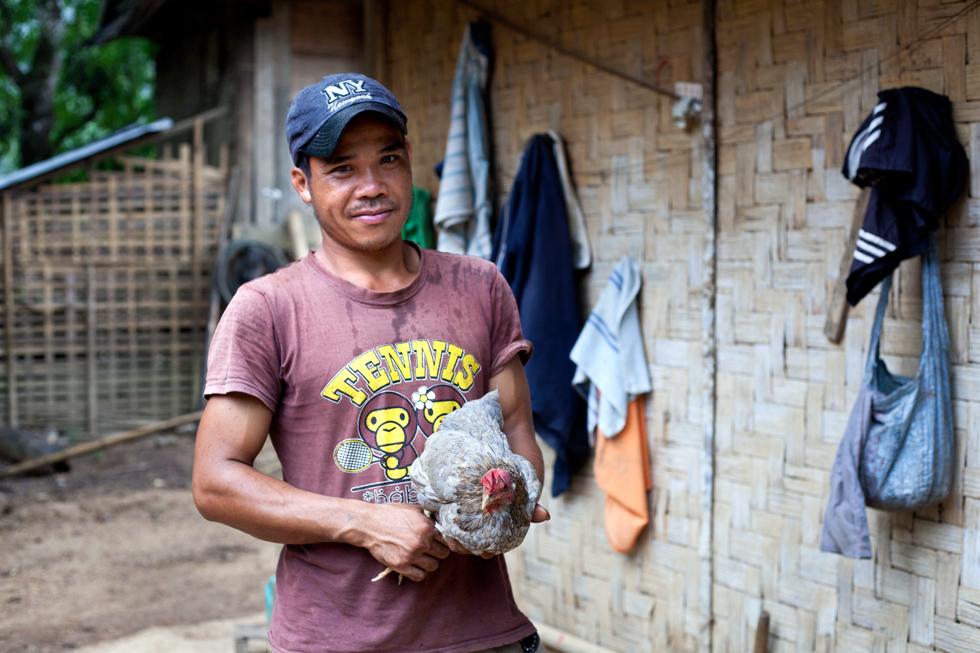 Villageois près de Mong Noi Laos : .