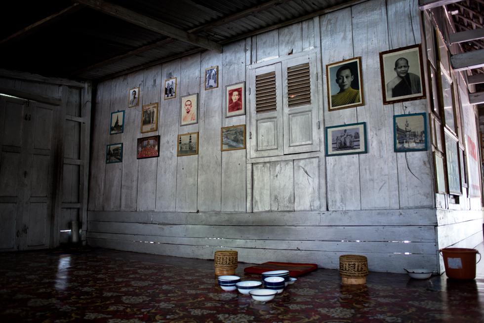 Salle à manger Temple Bouddhiste à Luang Pragang Laos : .