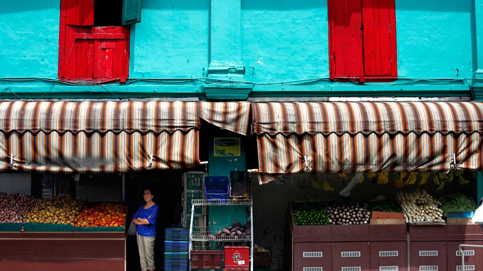 Petite épicerie à Singapour : .