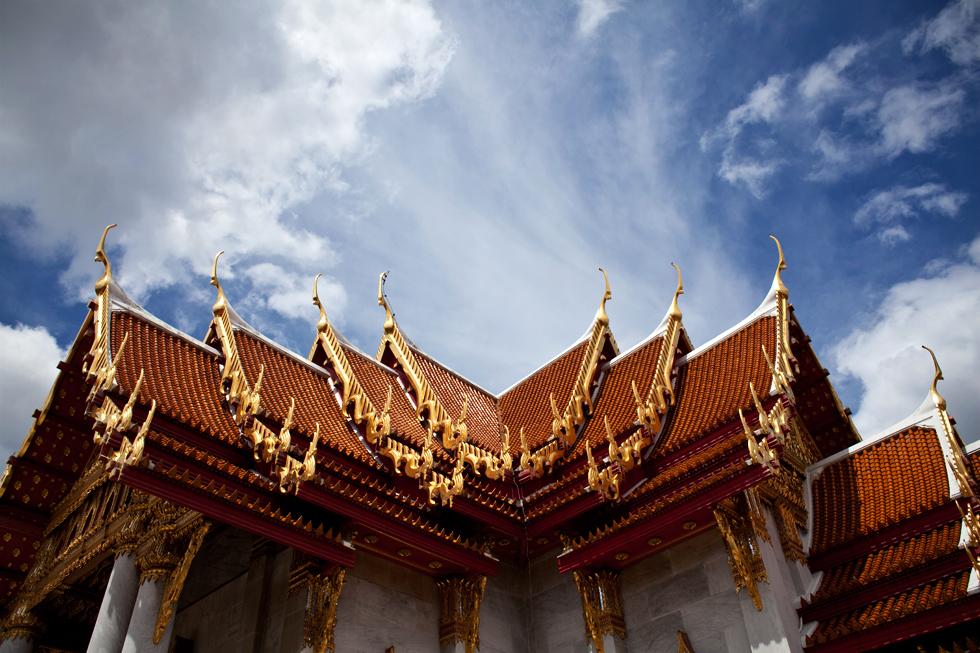 toit d'un temple bangkok