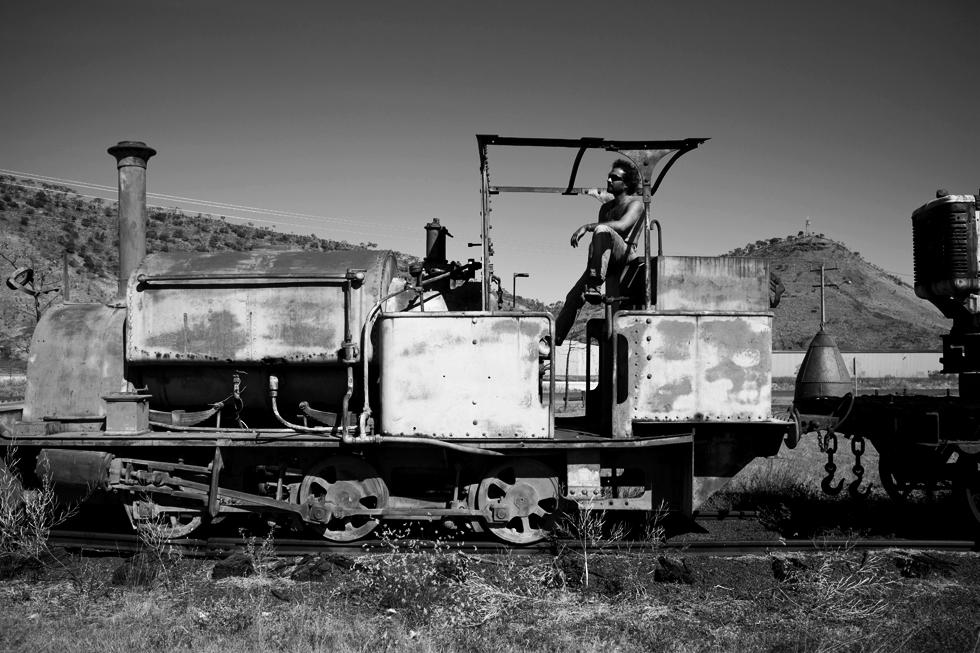 Vieux train de marchandise à Wyndham, Western Australia : .