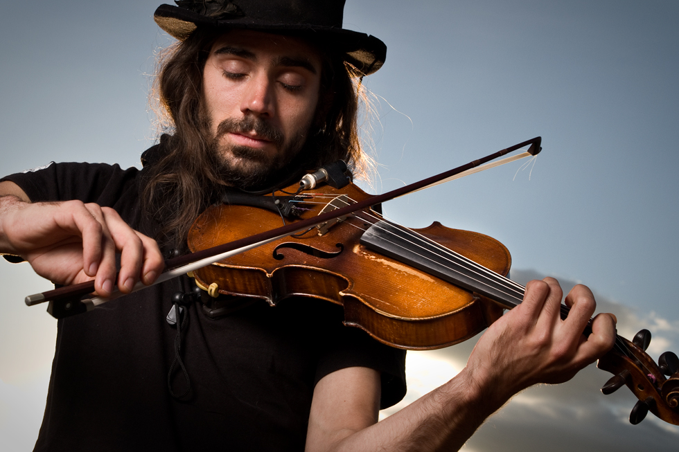 portrait d'un violoniste